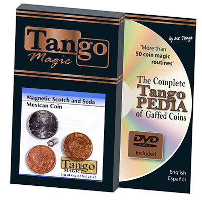 Scotch and Soda Magnetic Mexican Coin (w/DVD) (D0052) by Tango -Trick