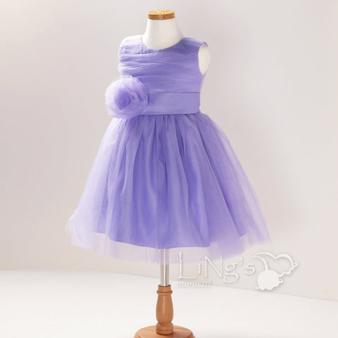 Lavender Satin Tutu Flower Girl Dress