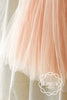 Pastel Peach Tutu Flower Girl Dress