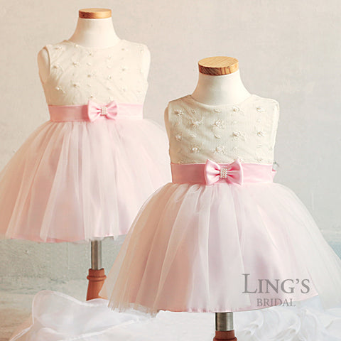 Pink Darling Tutu Flower Girl Dress - Toddler