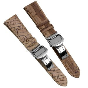 Cork Watch Straps with Deployant Buckles