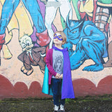 Turquoise and Purple Blank Superhero Cape