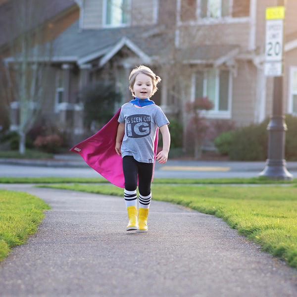 Blue and Hot Pink Children Superhero Cape - Gender Neutral