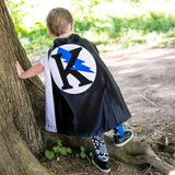 Black and White Personalized Superhero Cape with Bolt