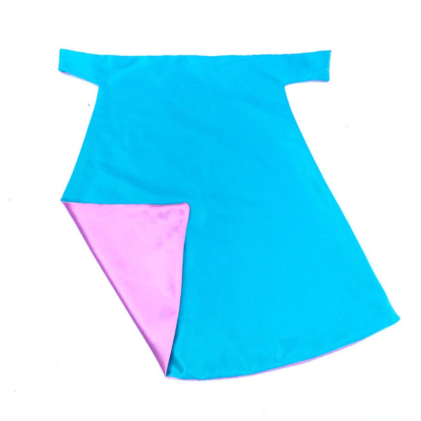 Bubble Gum Pink and Turquoise Blank Superhero Cape