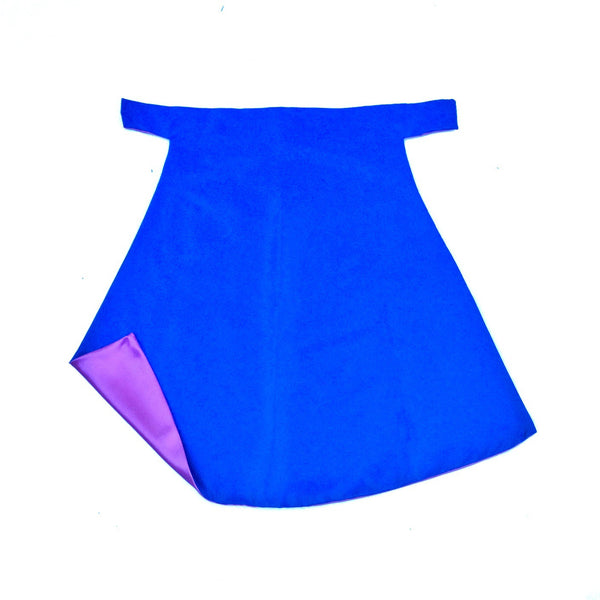 Blue and Princess Purple Blank Superhero Cape
