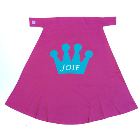 PINK and Glitter TURQUOISE Princess Cape - PERSONALIZED with your name