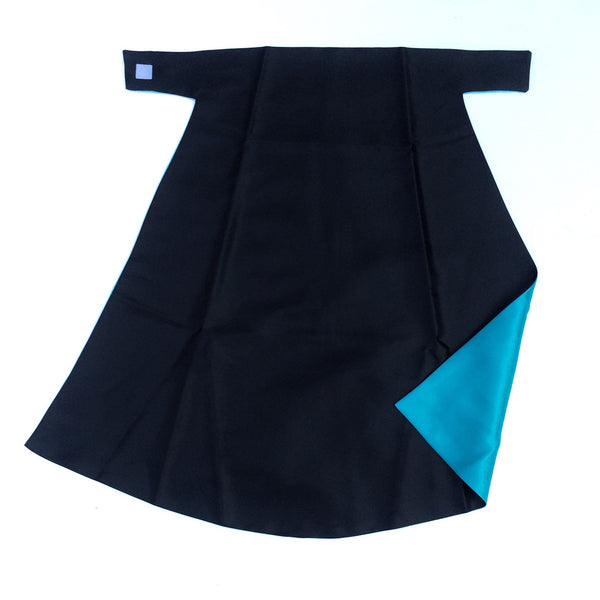Black and Turquoise Superhero Cape (Blank)