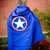 Blue and Red America Cape for Kids