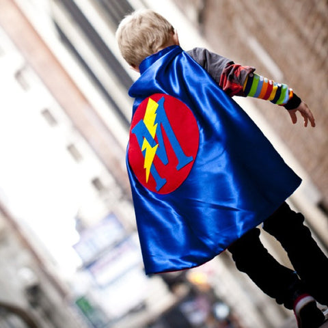 Pip and Bean Personalized Superhero Cape - Blue and Red