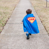 Blue and Red Shield Cape - Personalize with your name