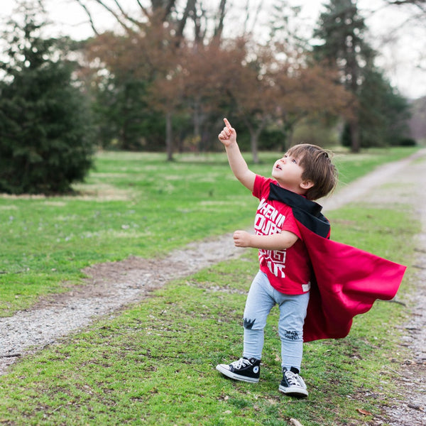 Black and Red Superhero Cape / Costume (Reversible)