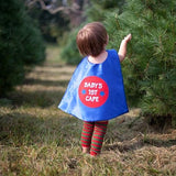 Blue and Red Baby Superhero Cape - Newborn Photo Prop