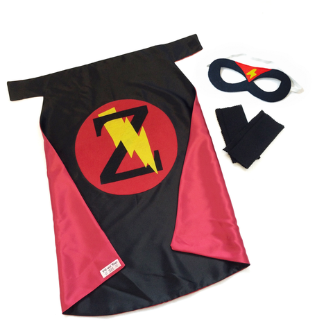 Black and Red Personalized Superhero Set