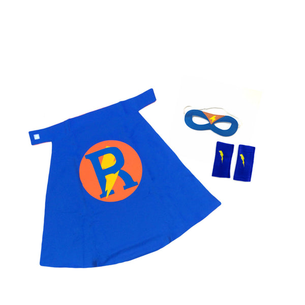 Premium Personalized Superhero Set  Blue and Orange