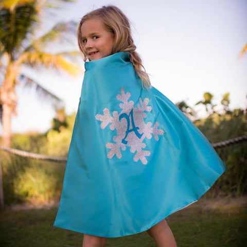 Elsa Costume Cape With Personalized Glitter Letters