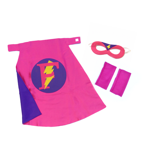 Hot Pink and Purple Personalized Superhero Set