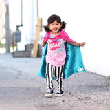 Hot Pink and Turquoise Blank Superhero Cape - Reversible