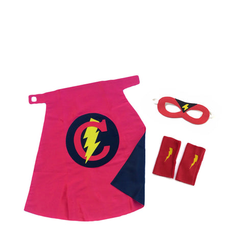 Pip and Bean Premium Personalized Superhero Set in Red and Black