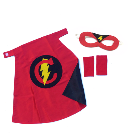 Pip and Bean Personalized Superhero Set Red and Black