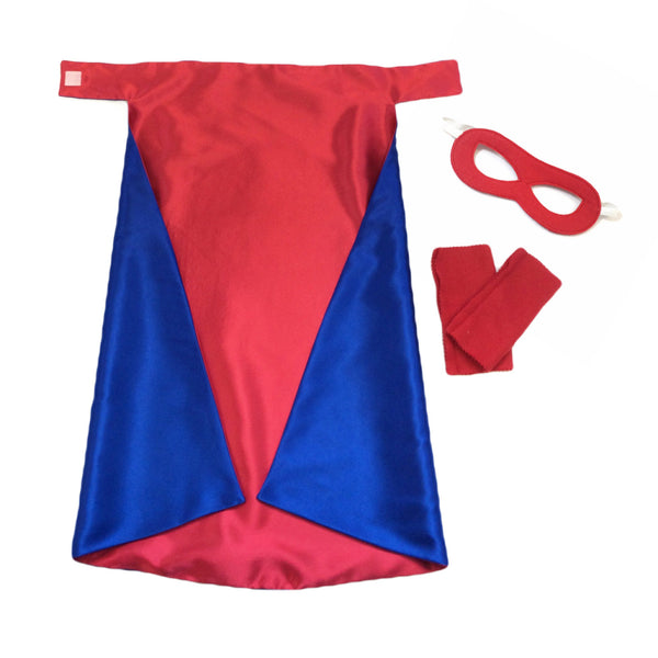 Blue and Red Superhero Cape Set