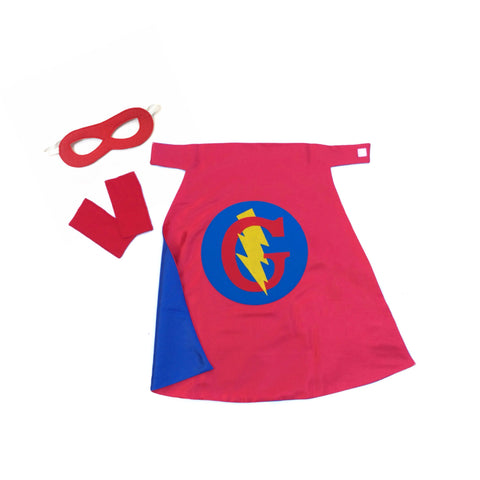Pip and Bean Red and Blue Personalized Superhero Cape Basic Set