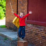 Plain Blue and Yellow Superhero Cape