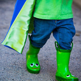 Blue and Lime Green Reversible Superhero Cape