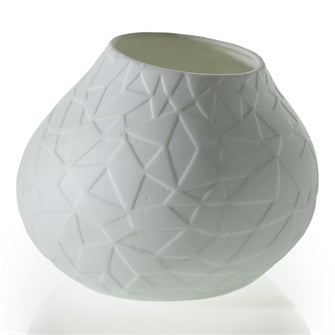 Geometric Bisque Votive