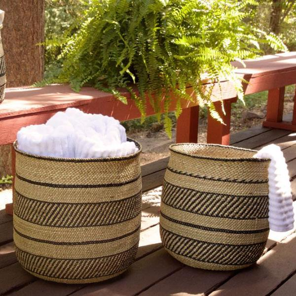 Iringa Basket with Black Highlight