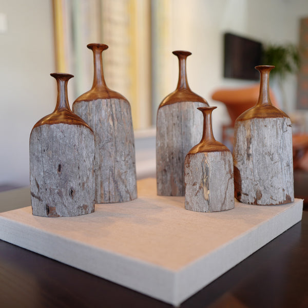 Sandalwood Bottle Sculptures