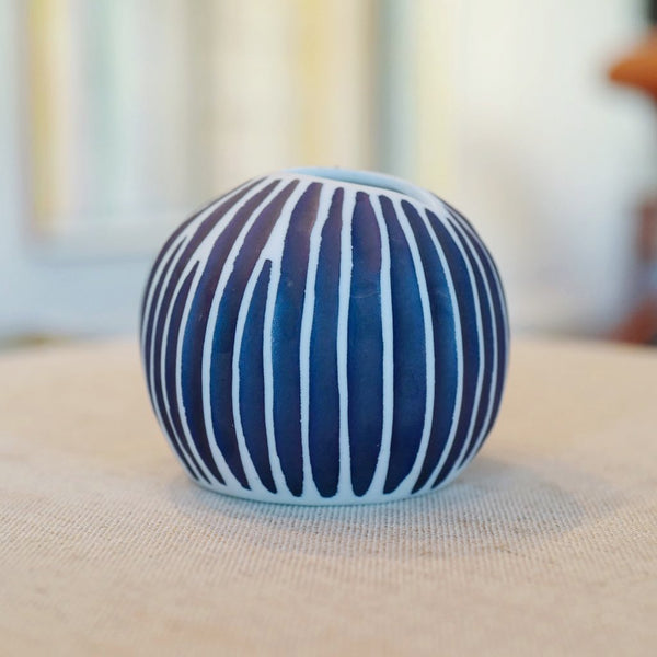 Blue and Navy Pebble Vase