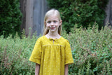The Olive Mini MuuMuu- Bright Mustard Sparkle