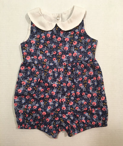 The Harper Romper- Rosa Navy