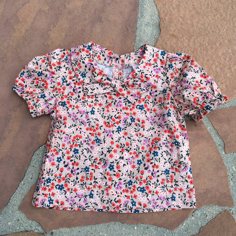 The Sylvie Vintage Shirt-  Pink Flowers