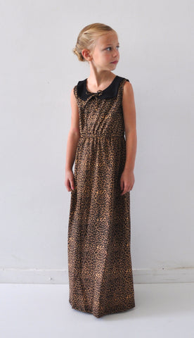 *** ON SALE *** The Penny Peter Pan Collar Mini Maxi - Animal Print