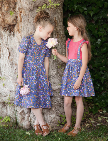 The Ida Dress- Periwinkle Flowers