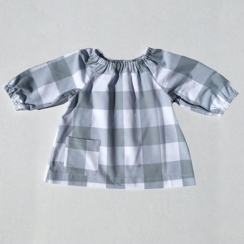 "The Stella Peasant Top 2"" Gingham- More Colors Available"