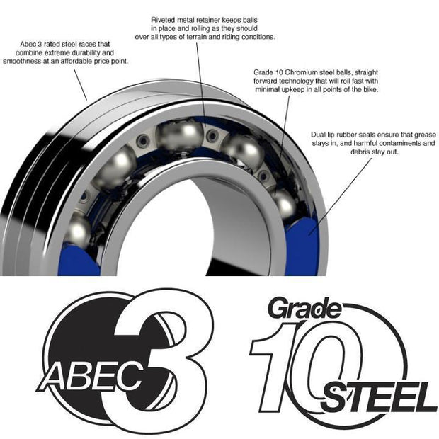 607 2RS | 7 x 19 x 6mm Bearing by: Enduro