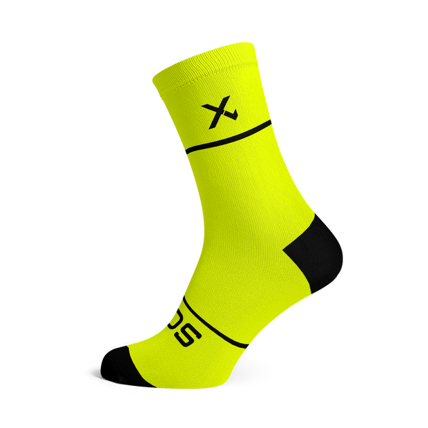 Sox Footwear | Premium Knit Fluo Yellow Socks