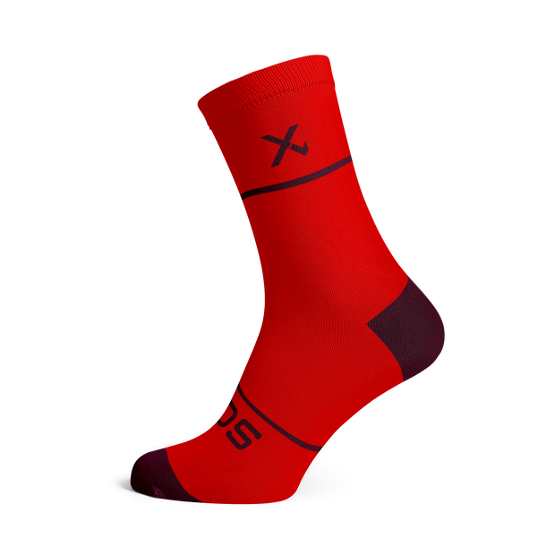 Sox Footwear | Premium Knit Red Socks