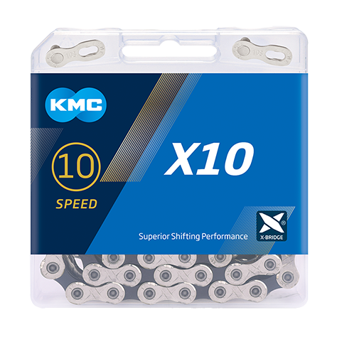 10-Speed X10 Chain | 116 Links | Boxed by: KMC