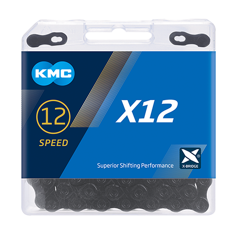 12-Speed X12 Black Tech Chain | 126 Links | Boxed by: KMC