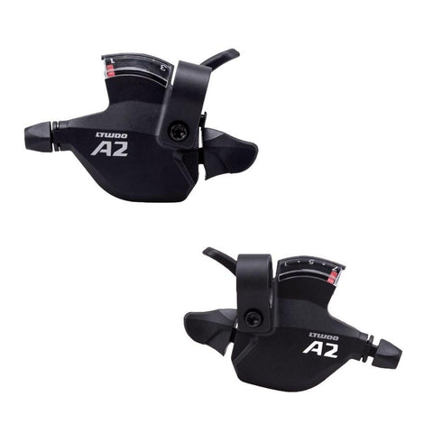 L-Twoo A2 MTB Shifter Levers | 3x7 Speed by www.rushsports.co.za