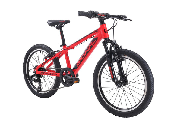 Signal Stormer 20-Bicycles & Frames-Signal-Firetruck Red / Black-Shimano 1x7-www.rushsports.co.za
