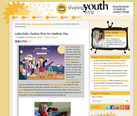 Lottie Feature In Article By Amy Jussel In Youth com