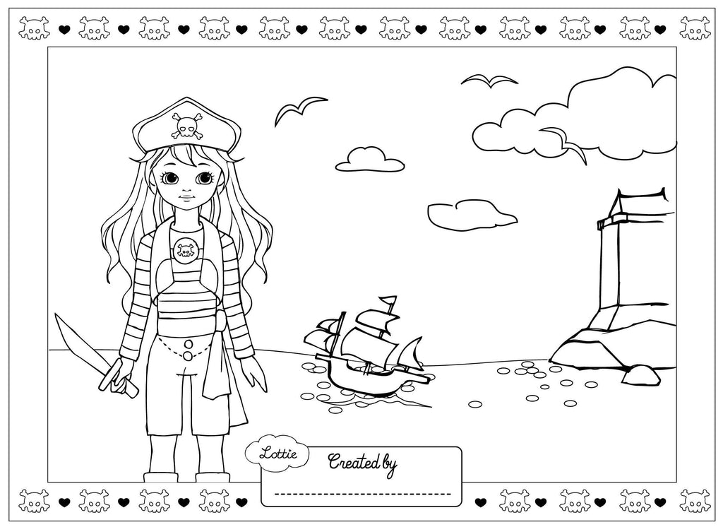 Pirate Queen Lottie Coloring Pages