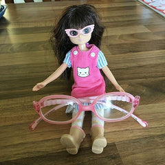 lottie doll with glasses