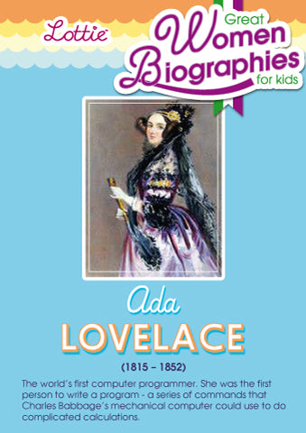 Ada Lovelace biography for kids
