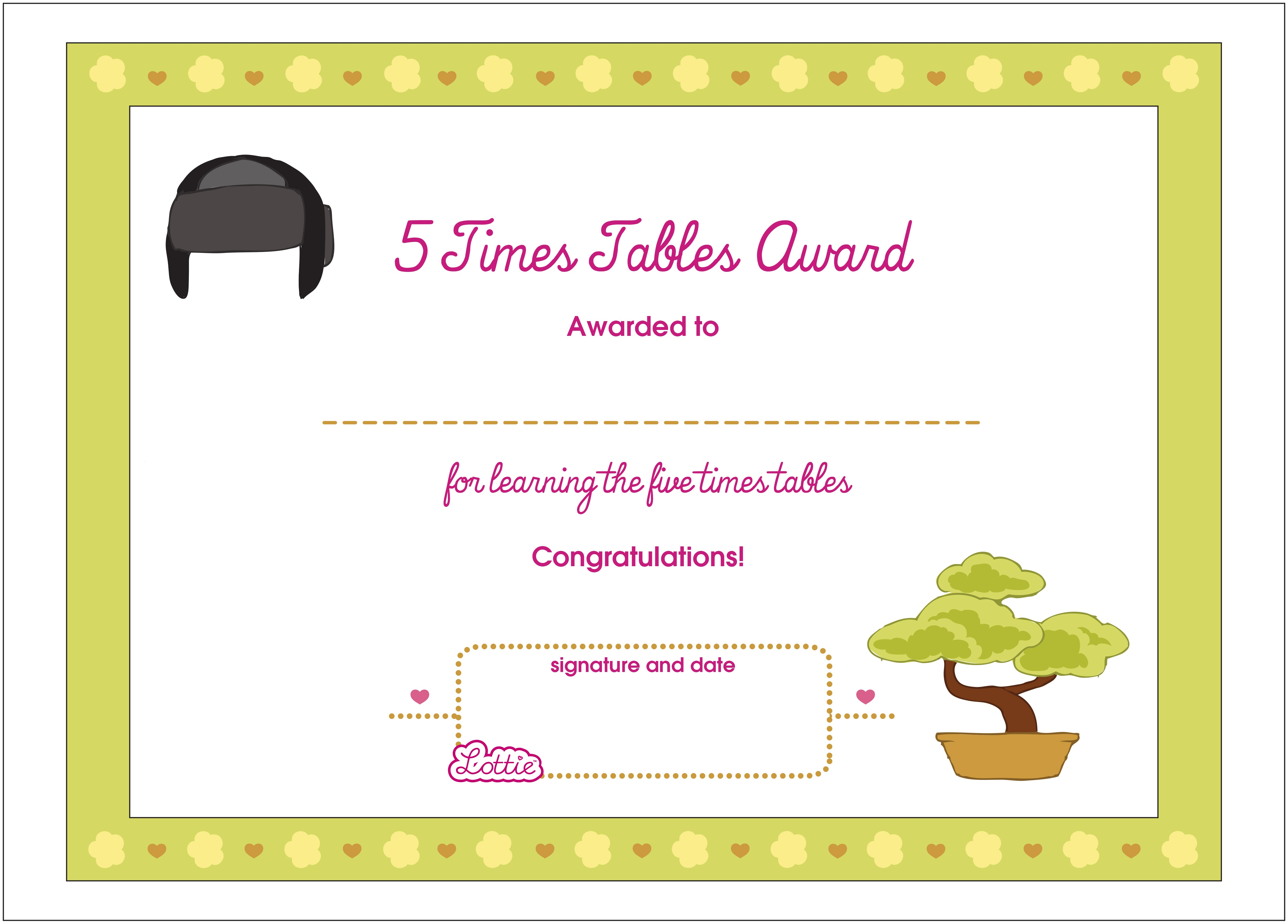 print out award certificates